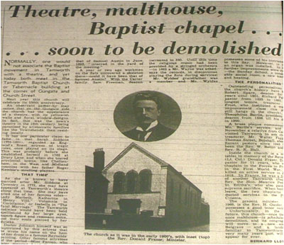 Theatre, malthouse, Baptist chapel…soon to be demolished