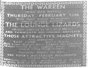 Tamworth Herald – 06/02/81 - The Lounge Lizards, Those Attractive Magnets, The Warren