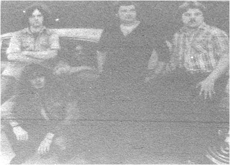 "Demonic heavy metal from Hamma (Left to right): Dave Ford, ""Stormy"" Swan, Frank Ingley, Colin Hunt and Andrew Bradford."
