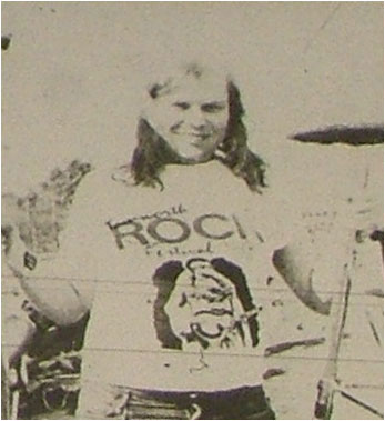 The 1986 Rock festival t-shirt as modelled by Mike Fleming