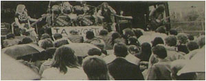 Caption: Wolfsbane pictured at Festival '88. See them at Festival '89 too.