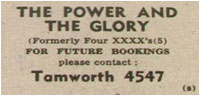 The Power and the Glory – Advert
