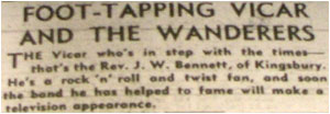 'Foot tapping Vicar and the Wanderers'